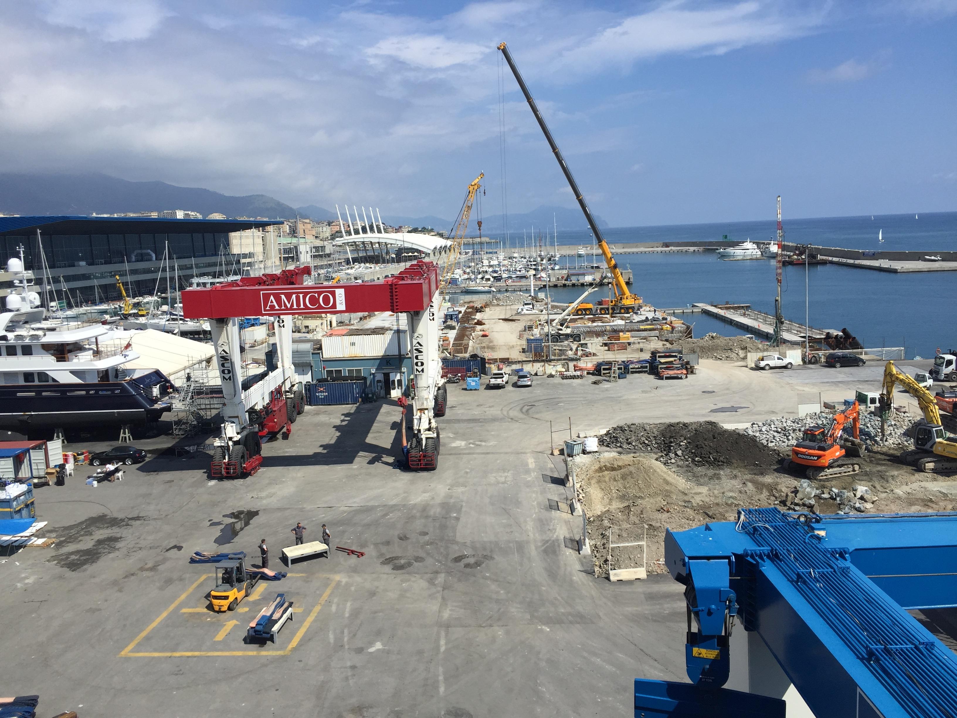 cantiere molo ESO Strade opere a mare